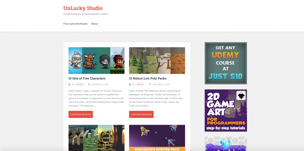 UNLUCKY STUDIO - FREE GAME ART
