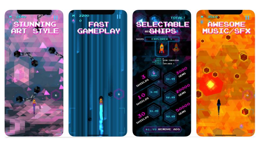 Trixel Rocket Screenshots