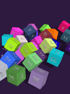 Cube with Dynamic Numbers