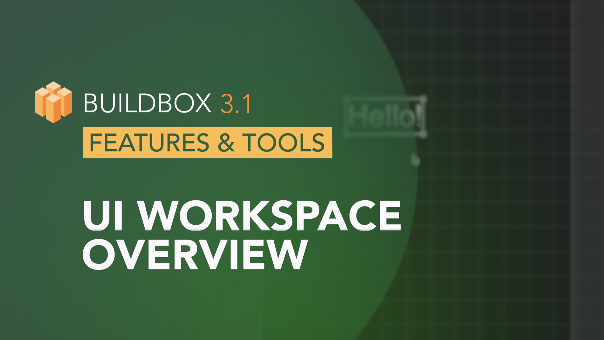 UI Workspace Overview