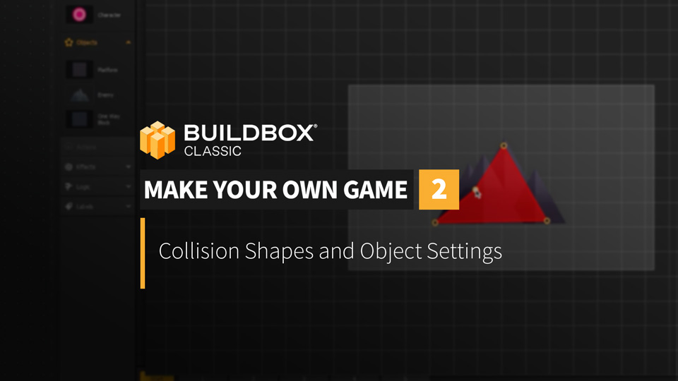 Collision Shapes and Object Settings