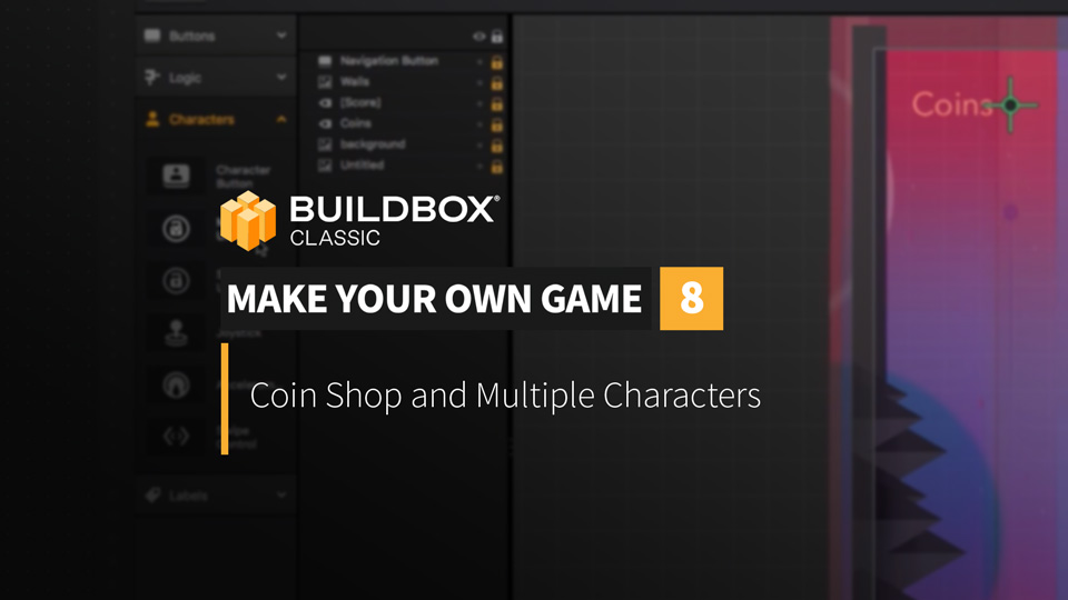 Coin Shop and Multiple Characters