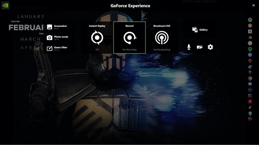 recording with Nvidia overlay