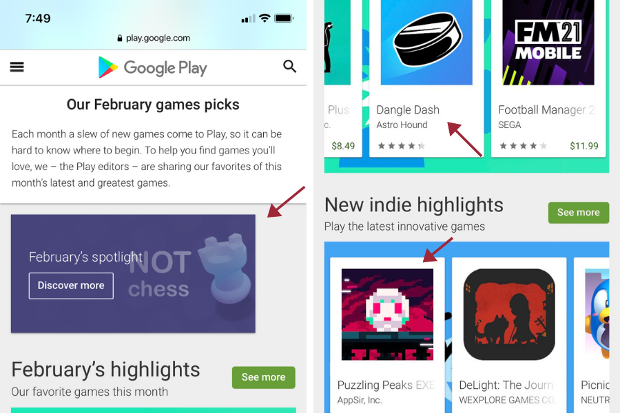 Google Play Features